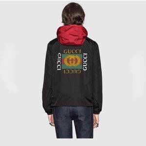 Authentic Gucci Logo windbreaker